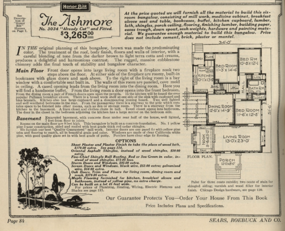 Sears Ashmore 1921 floor plan