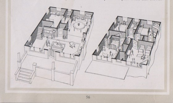 1917 floor plan illustration