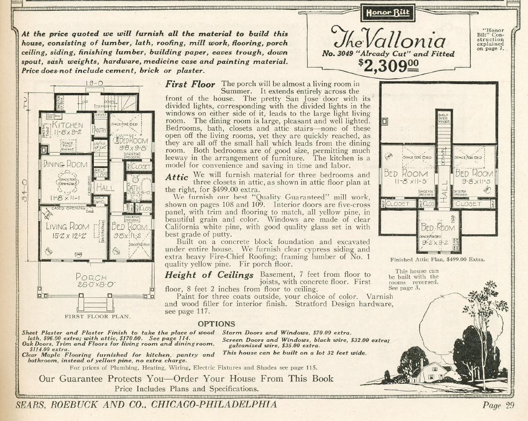 A Sears Vallonia in Springdale Cincinnati – Sears Homes Floor Plans