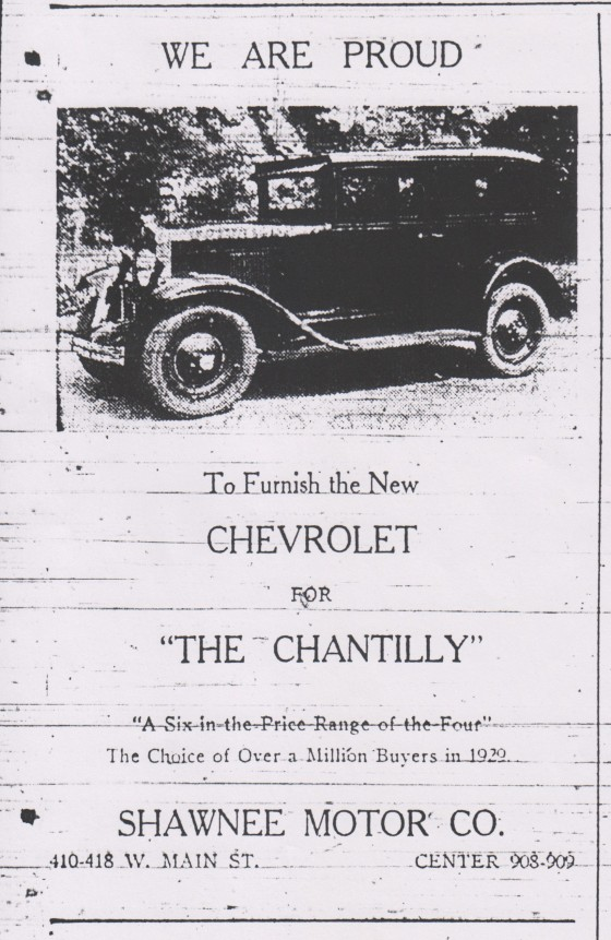 The Chantilly Chevrolet 9-15-1929