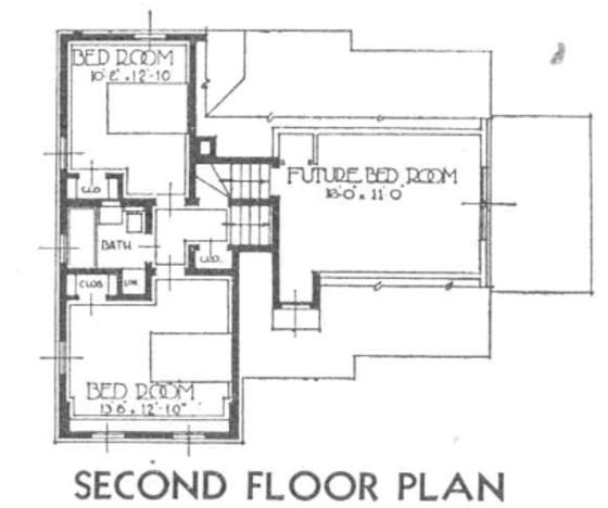 Concord second floor 1936