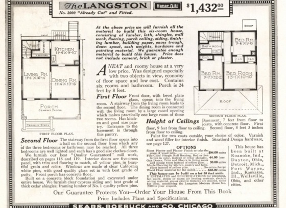 Sears house plans mitchell house design plans for Mitchell homes price list