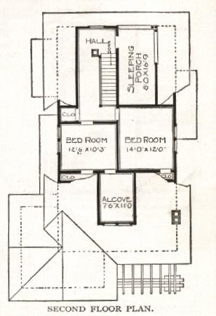 1918 second floor plan