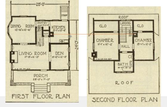 side by side floor plan