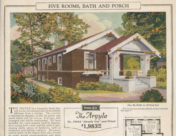 Image Of The Argyle From 1925 Sears Modern Home Catalog