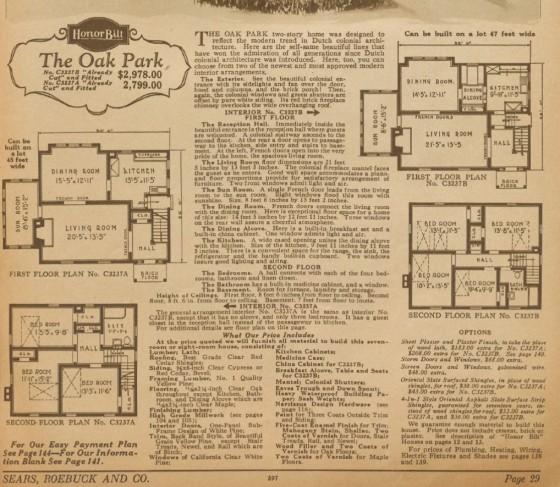 Oak Park floor plans 1928