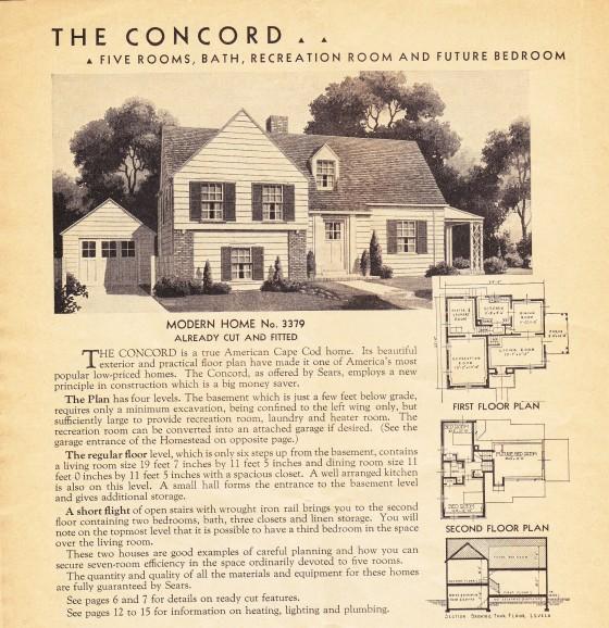 Concord catalog 1938