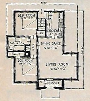 sears lenox 1933 floor plan