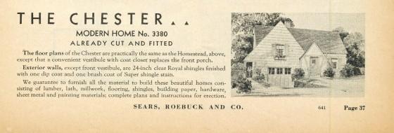 Chester 1938 catalog details