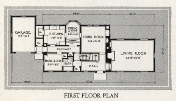 Sears Trenton first floor plan 1932