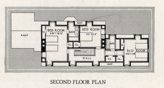 Sears Trenton second floor plan 1932