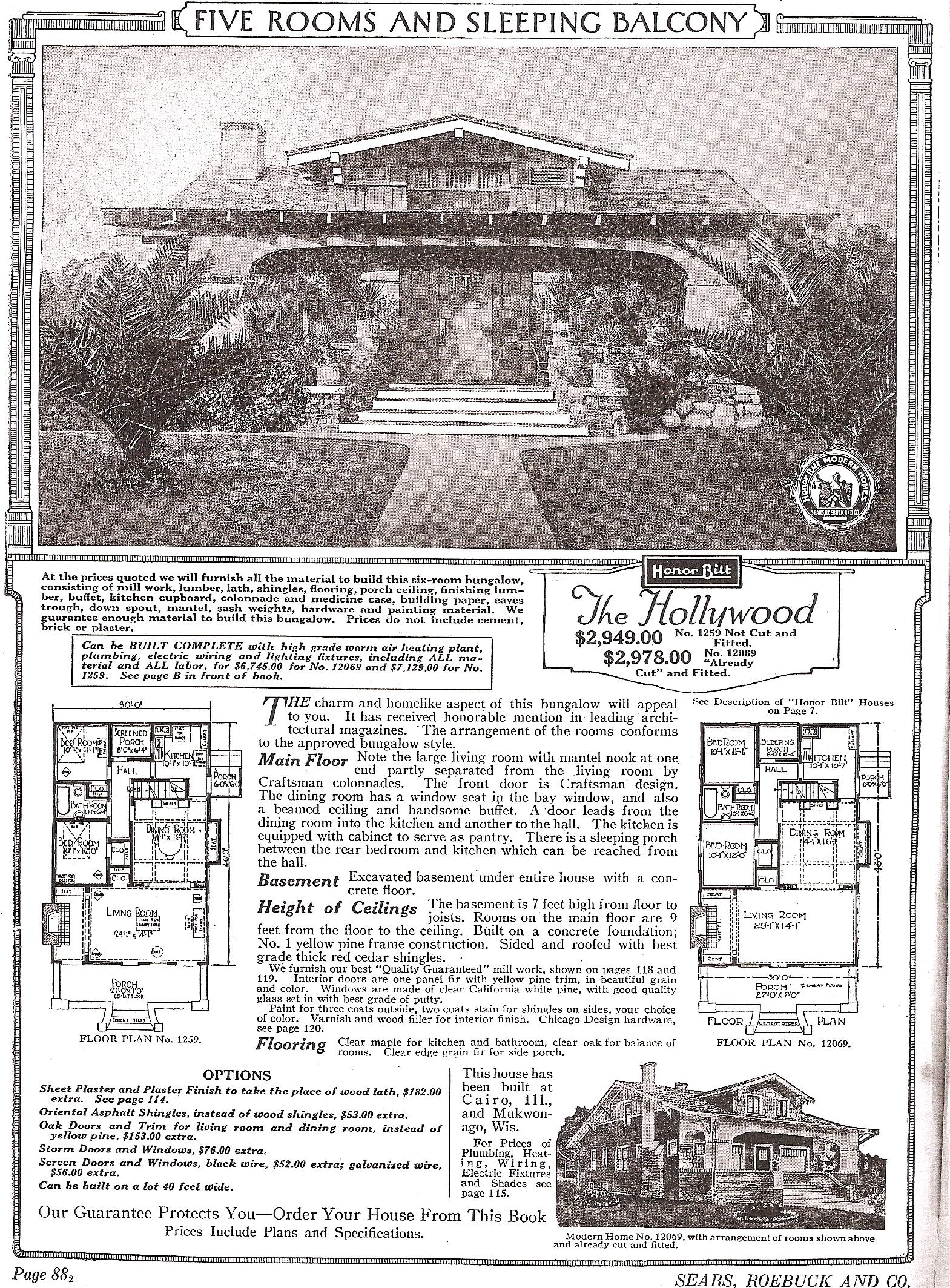S Hollywood 1922 catalog