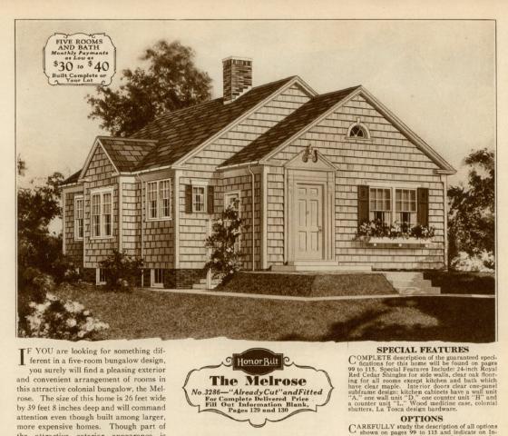 Sears Melrose image 1930