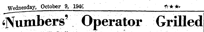 9 Oct 1946 headline