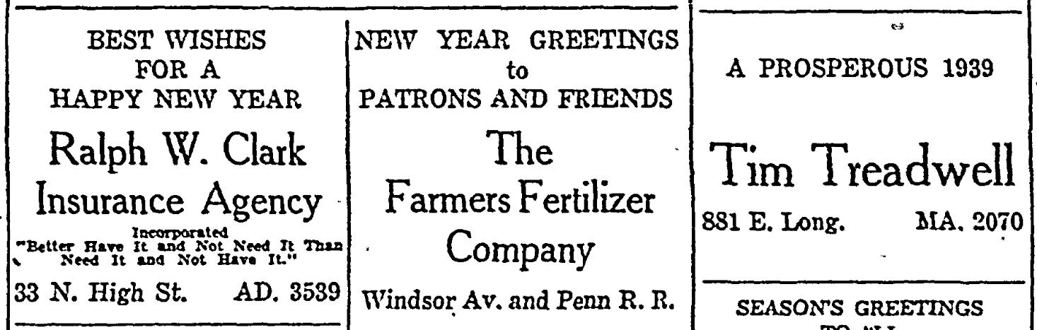 Happy New Year 1939