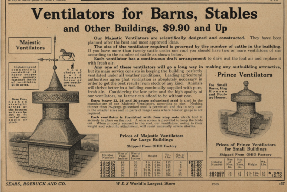 Barn ventilators