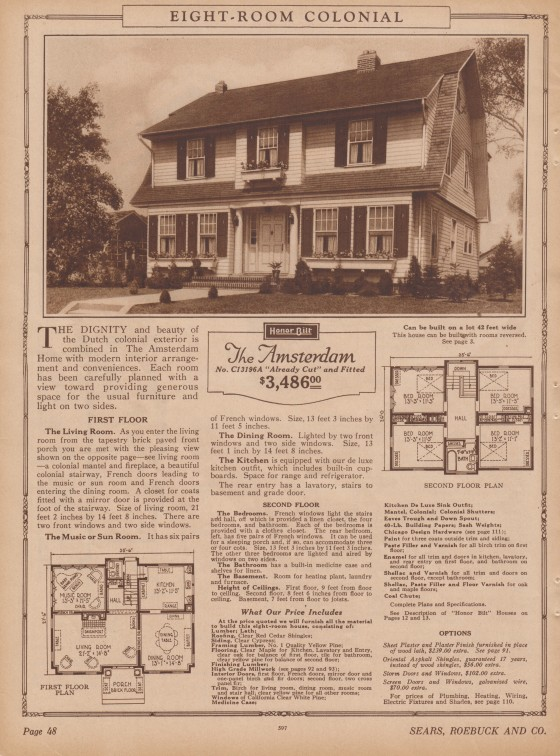 Sears Amsterdam catalog 1926