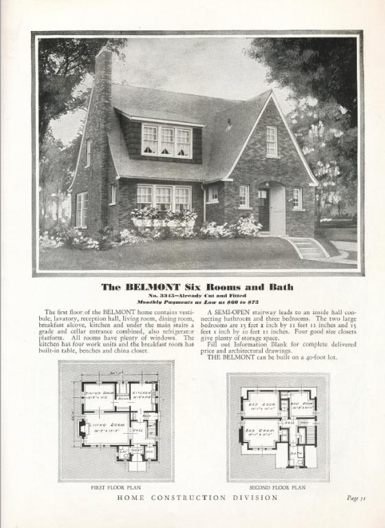Sears Belmont catalog 1931
