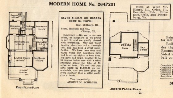 No 264P201 floor plan - 1914 catalog