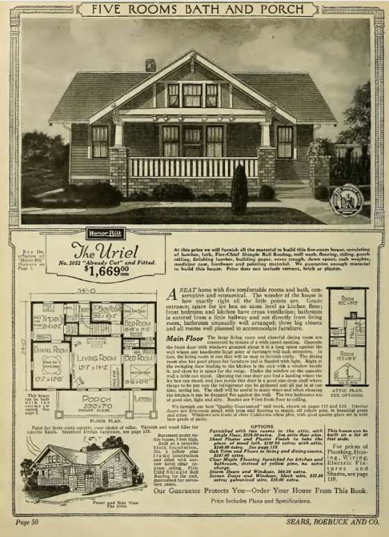 Sears Uriel 1923 catalog