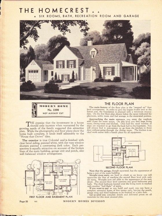 Homecrest catalog 1938