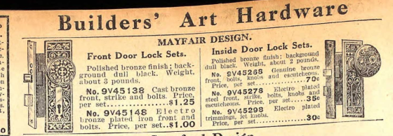Mayfair design hardware 1915 Gen Merch catalog