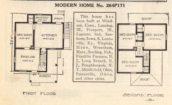 Sears No 171 floor plan 1914