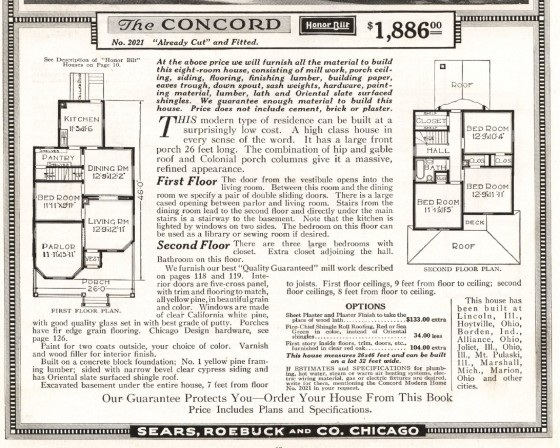 S Concord 1918 details